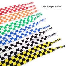 110 см 1 пара шнурков модные кроссовки шнурки цвета клетчатые