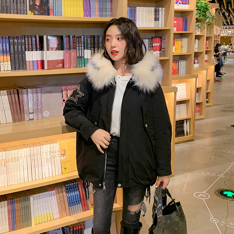 2019 Fashion Down   Parka   Warm Thicken Ladies Coat Down Jacket Woman Women's Jacket Korean Version Of Thick Jacket Down Jacket