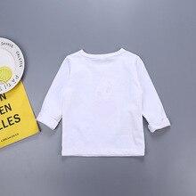 Детская футболка с принтом весенне-осенняя футболка телохранителя из чистого хлопка с длинными рукавами для детей 3-8 лет