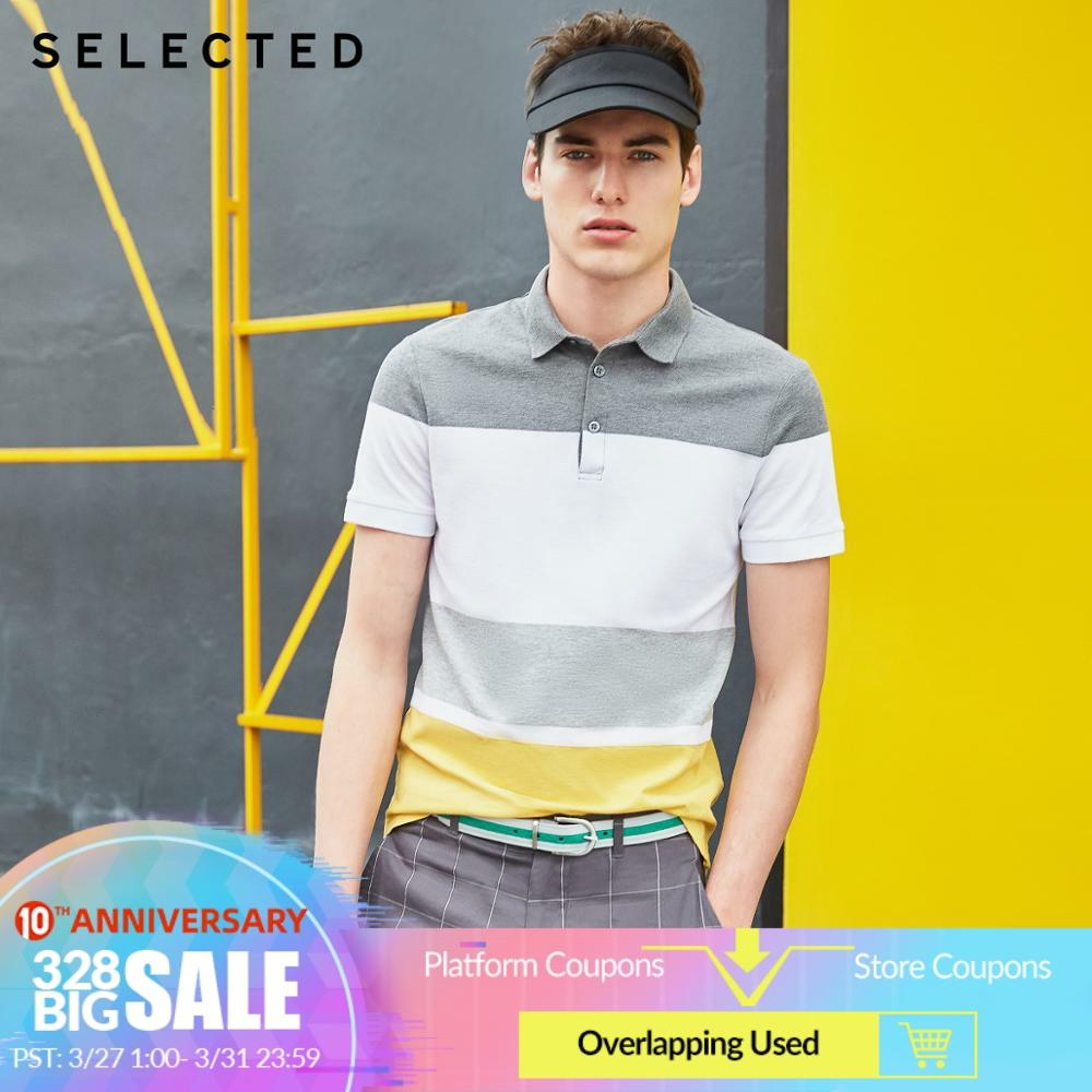 SELECTED Men's Summer 100% Cotton Assorted Colors Turn-down Collar Short-sleeved Poloshirt S 419206526