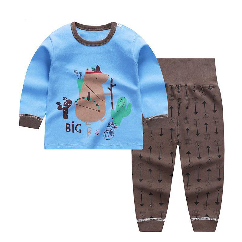 2020 Autumn Children Clothes Suits For Girls Pure Cotton Boys Baby Clothes Sleepwear Girls Kids Long Sleeve Pijamas Boys Pyjamas