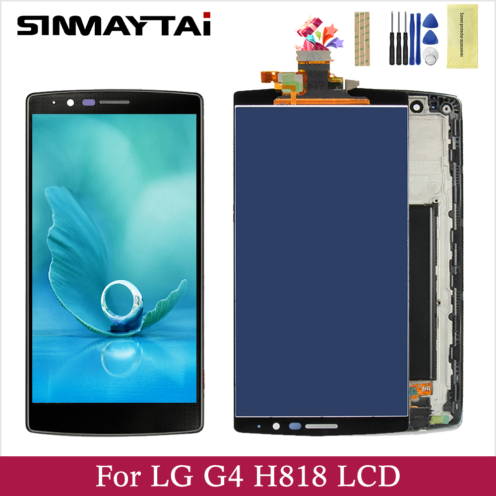 For 5.5 LG G4 Dual LCD Display Screen Frame+Touch Screen Panel Digitizer Replacement For H818 H818P H818N image