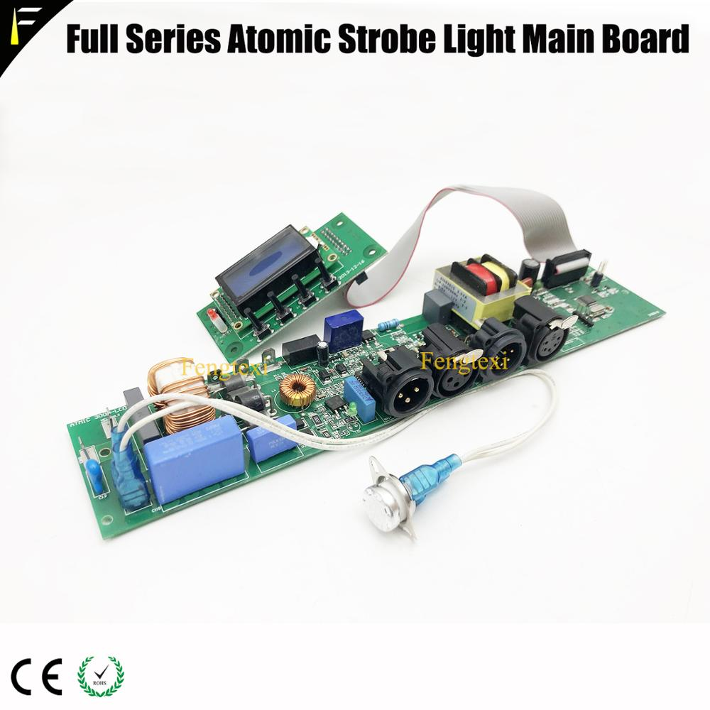 1Set Atomic 3000 Strobe Light Control Main Board With Display & Atomic LED 1000w Strobe Light Mainboard Parts With DMX512