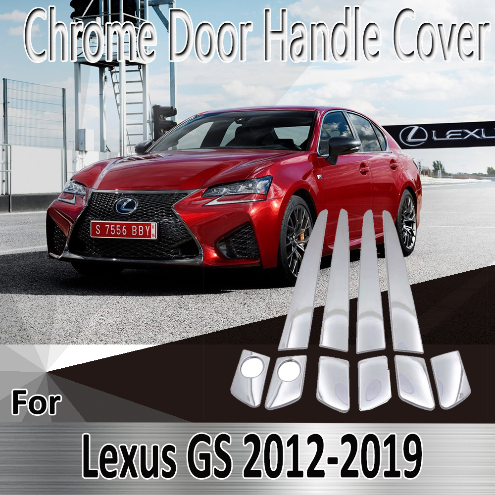 for <font><b>Lexus</b></font> GS L10 <font><b>250</b></font> F 350 F 2012~2019 2013 <font><b>2014</b></font> 2015 2016 Stickers Decoration Chrome Door Handle Cover Refit Car Accessories image