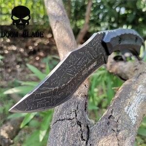 Image 1 - Sabit bıçak bıçak 8CR13MOV çelik bıçak naylon kılıf savaş bıçakları için iyi avcılık kamp Survival açık ve günlük taşıma