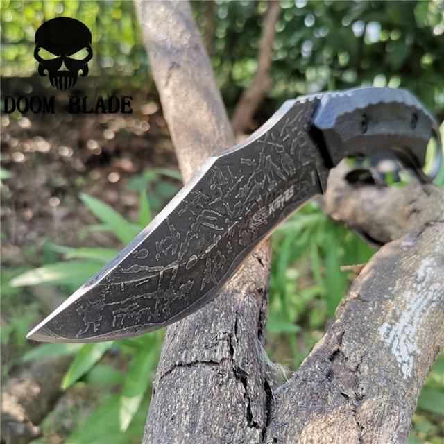 Sabit bıçak bıçak 8CR13MOV çelik bıçak naylon kılıf savaş bıçakları için iyi avcılık kamp Survival açık ve günlük taşıma