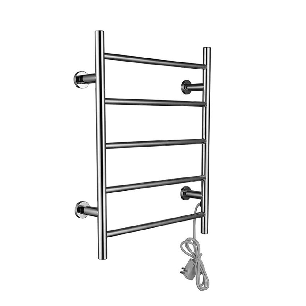 Brilliant Electric Wall Mounted Towel Warmer Rail Heated Rack 304 Stainless Steel Square Towel Warmer Rack For Home Bathroom Ac220v 50hz Possessing Chinese Flavors