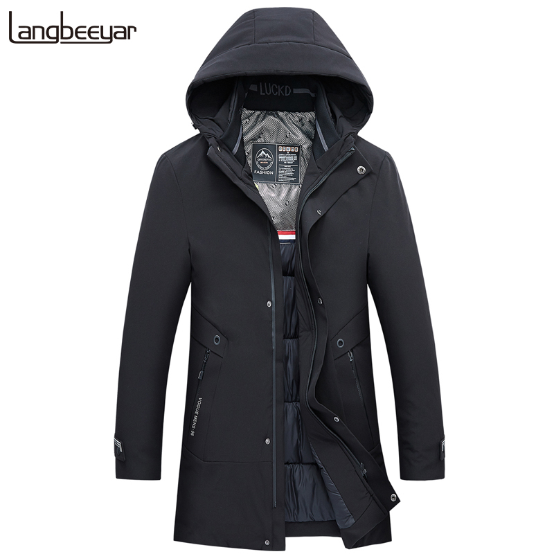 2020 Thick Hooded Winter Fashion Brand Jacket Mens Korean Quilted Jacket Streetwear Parkas Puffer Bubble Coat  Men Clothes