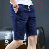 Solid color tooling shorts men's five pants loose straight pants trend casual pants
