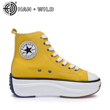 Candy Color Women Platform Sneakers High Top Casual Canvas Shoes