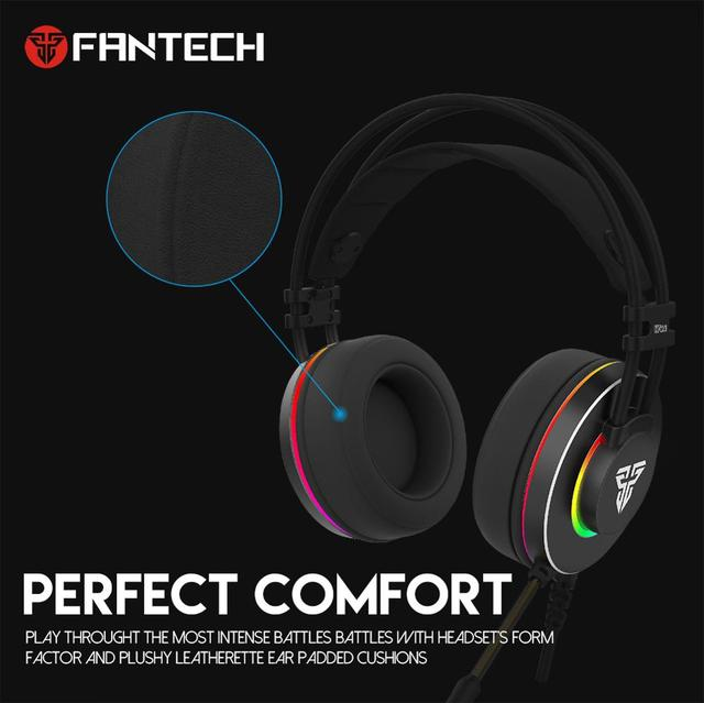 FANTECH HG23 Headphone Personalize With Octane 7.1 RGB USB Just Wired Gaming Headset Alloy Earmuffs For PC PS4 Gaming Headphones 4