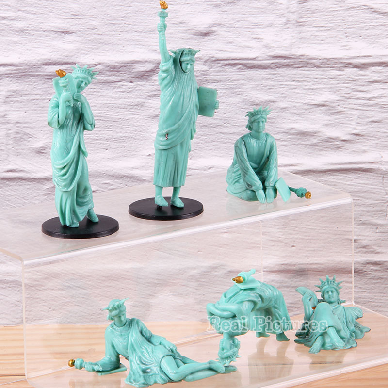 Anime Liberty Enlightening The World Statue Of Liberty PVC Action Figure Collectible Model Toy Decoration Dolls Gift Set