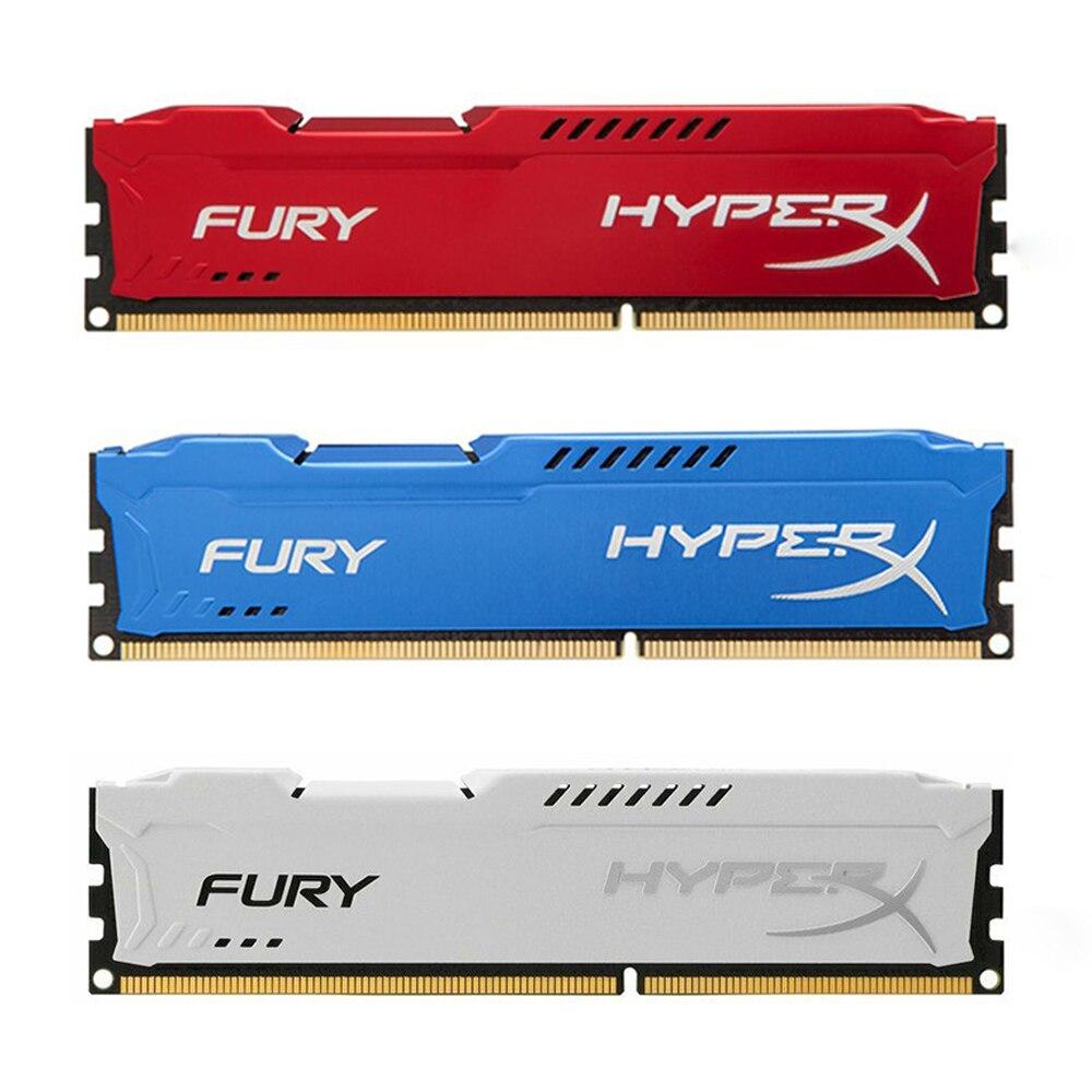 Ram do dimm de ddr3 ram 4gb 8 1333mhz 1600mhz 1866mhz para a memória do desktop da fúria de hyperx 240 pinos 1.5v memoria ddr4 ram módulo de memória