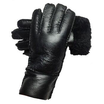 Gloves Women перчатки Winter New 2020 Fashion Russian Warm 100% Real Leather Sheepskin Full Finger Ladies Classic Gloves Mittens brand russian winter women warm fashion gloves female genuine leather mittens 100