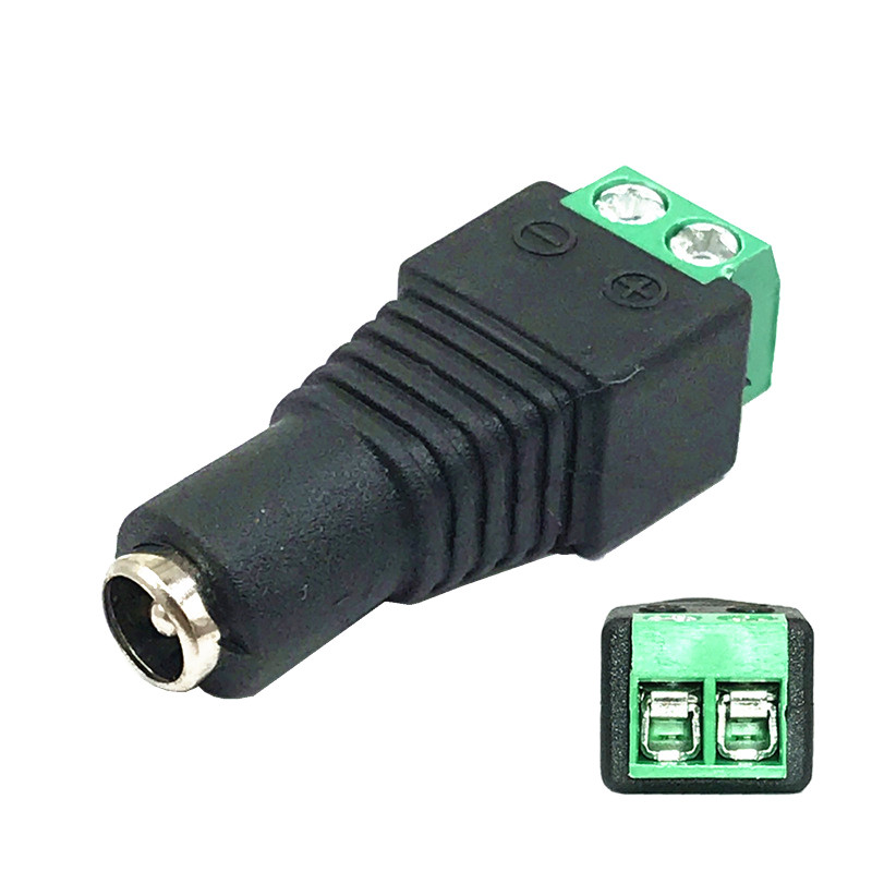 Male/Female DC <font><b>Connector</b></font> 2.1*<font><b>5.5mm</b></font> Power Jack Adapter Plug <font><b>Cable</b></font> <font><b>Connector</b></font> For LED Strip and CCTV Cameras image