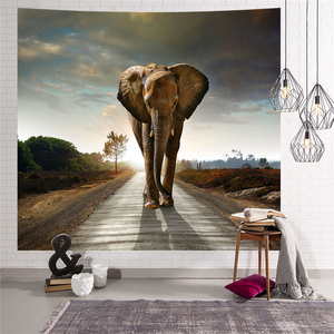 Image 5 - Elephant Tapestry Wall Hanging Animal Wall Carpet Twin Hippie Tapestry Bohemian Hippy Home Decor Bedspread Sheet