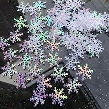 300 sztuk ozdoby na choinkę płatki śniegu białe plastikowe sztuczny śnieg ozdoby choinkowe dla domu Navidad
