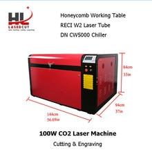 Bez podatku dla ue RECI 100W 1060L maszyna do cięcia laserowego CO2 Laser autofokus CW5000 agregat 80F oś obrotowa RDC6445