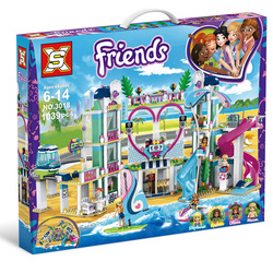 1039Pcs lepinng New Friends Series Heartlake City Resort Compatible 41347 Building Block Bricks Kit For Kids Fun Toys Set Gifts