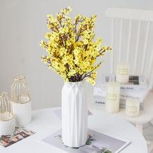 D Gypsophila Artificial Flowers White Branch High Quality Babies Breath Fake Flowers Long Bouquet Home Wedding Decoration Autumn