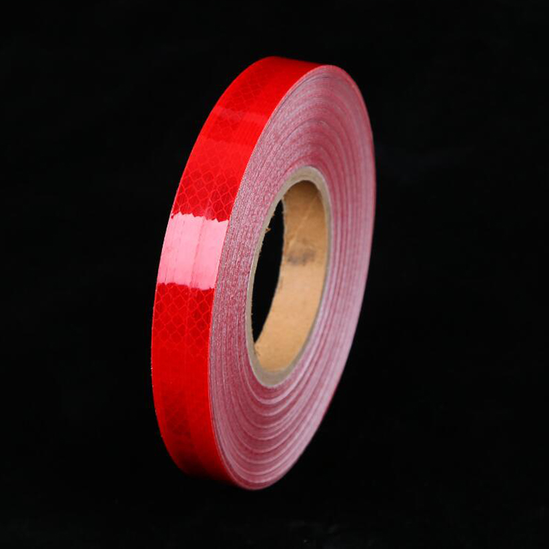 25mm Width Safety Mark Reflective Tape Stickers Car-styling Self Adhesive Warning Tape Automobiles Motorcycle Reflective Film