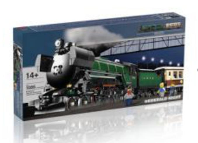 1085PCS Technic Series Emerald Night Train Model Building Kits Block Bricks Toy