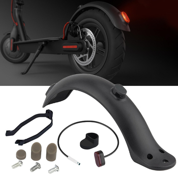 Rear Mudguard Fender Taillight for Xiaomi M365 Electric Scooter Brake Light Taillight+Mudguard Fender+Hook 1 set scooter rear back fender mudguard screws rubber cap electric screw plug cover for xiaomi mijia m365 electric scooter parts