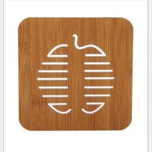 Cute Cartoon Shape Wooden Anti-slip Table Mat Insulated Pad Hot Pot Mat Bar Mat Kitchen Placemats Insulation Mats led bar luminescent table cup mat kitchen mat pad for bar cocktail ktv light base gravity induction battery bar tools barware