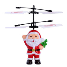 2019 Christmas Santa Claus Helicopter Rc Helicopter Gifts Magic Christmas Gift Aircraft For Kids Boys christmas magic