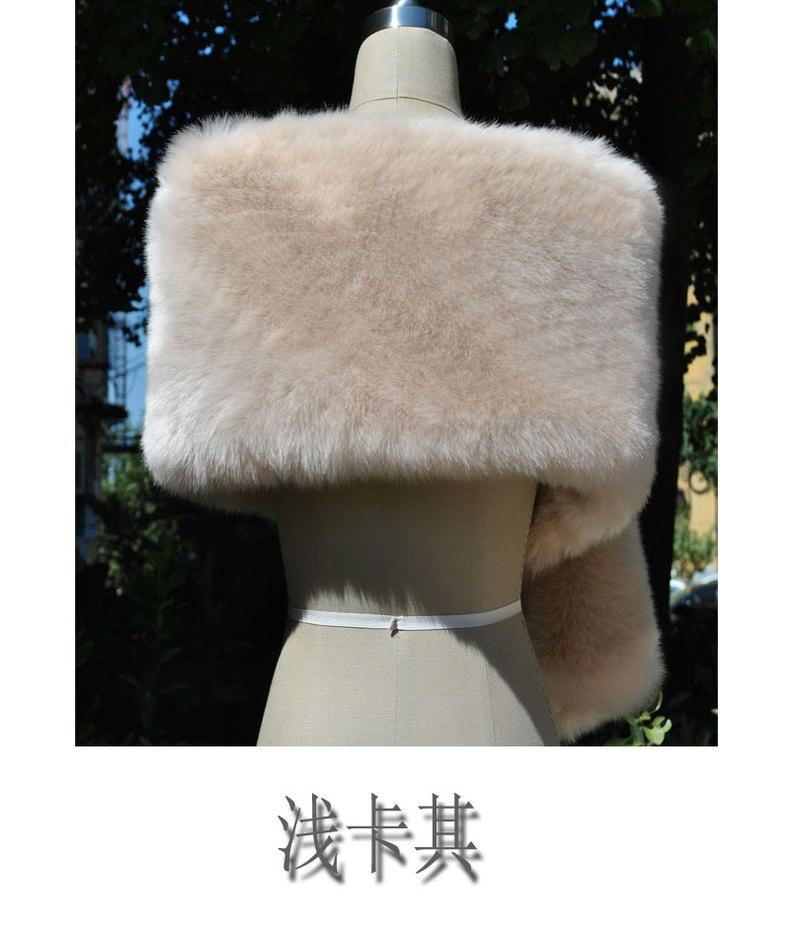 Châle coloré nouveau type renard-comme fourrure châle fourrure-comme cou écharpe de mariée en porte-à-faux robe de soirée cape cadeau spécial - 2