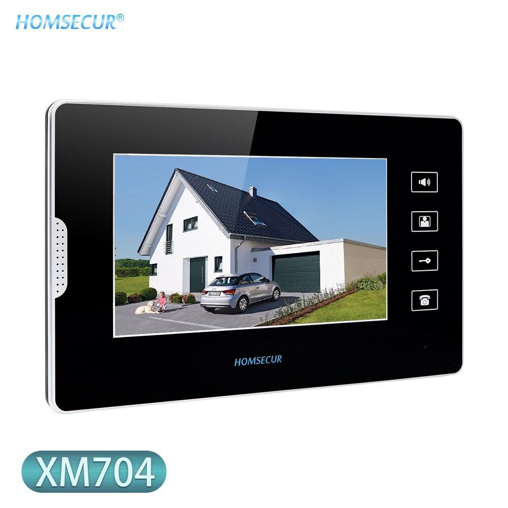 HOMSECUR Video Indoor Monitor XM704 7inch For Video Door Phone Intercom System