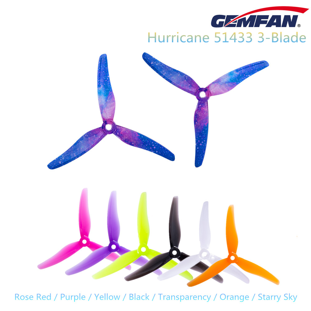 24pcs Gemfan Hurricane 51433 3-Blade PC Propeller For POPO RC Quadcopter FPV Racing/Freestyle Drone Parts