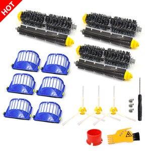 Image 1 - Kit de escova de filtro para irobot roomba 600 series 605 615 616 620 621 631 651 650 690 680 ferramentas limpeza batedor escova filtros kit