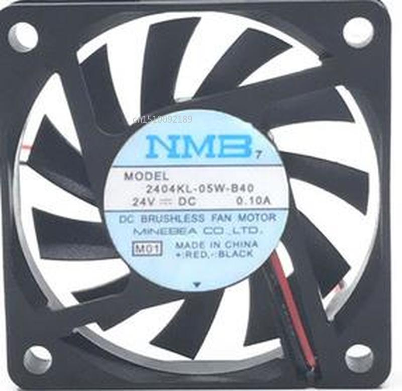 For 60 * 10 24V 0.10A 6CM 6cm Two-line Ultra-quiet Fan 2404KL-05W-B40 Free Shipping