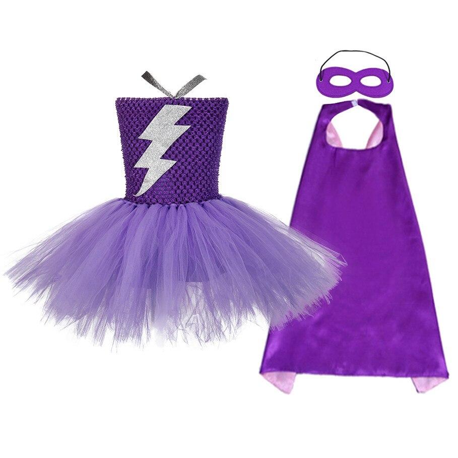Superhero Wonder Woman Girl Tutu Dress Kids Cosplay Costume Christmas Halloween