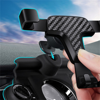 Gravity Car Air Vent Outlet Phone Holder for Peugeot 4008 / 5008 2017 2 Adjustable Angle Mobile Phone GPS Holder Bracket image