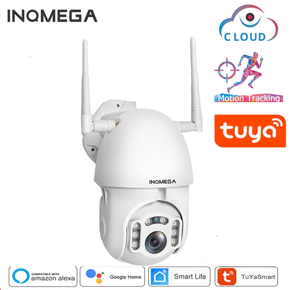 INQMEGA 1080P Tuya Auto Tracking Wifi Camera IP Security Home PTZ Speed Dome CCTV IR Onvif Outdoor With Google Home Or Alexa