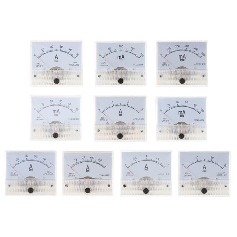 85C1 амперметр DC аналоговая панель измерителя тока механический указатель тип 1/2/3/30/50/100A 50/100/200/500mA|Измерители тока|   | АлиЭкспресс