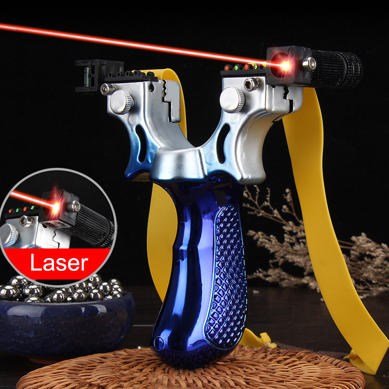 New Product  98k Laser Slingshot High Precision Outdoor Fast Pressing  Precision Infrared Slingshot Shooting Hunting Sling Shot