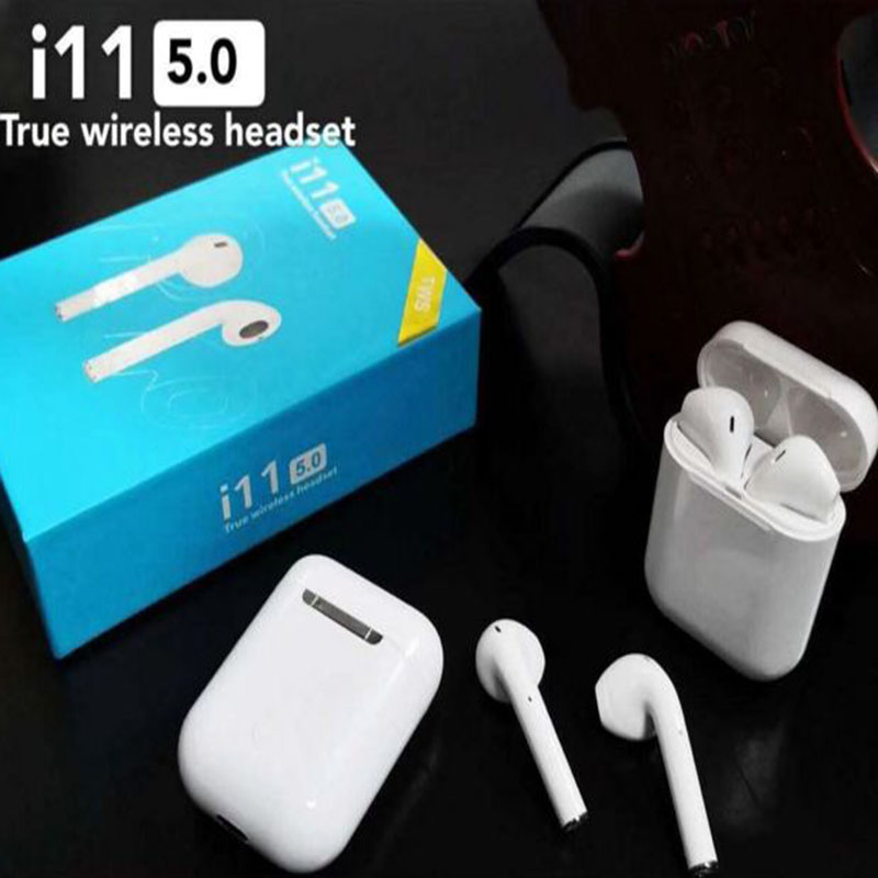 2019 New arrival i11 <font><b>Tws</b></font> headphone Wireless <font><b>i14</b></font> <font><b>tws</b></font> Earphone Bluetooth 5.0 <font><b>Earbud</b></font> Touch Control mic Headset for All Smart Phone image
