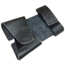Trąbka skórzana osłona zaworu akcesoria do instrumentów mosiężnych tanie tanio CN (pochodzenie) black Cowhide 21 8*11 8cm