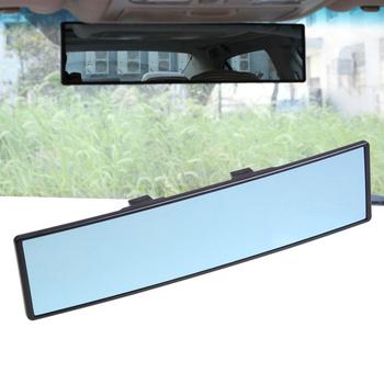 Uniwersalne lusterko wsteczne samochodu szerokokątne niebieskie szkło panoramiczne anty-olśniewające wewnętrzne lusterko wsteczne duża wizja 280mm zakrzywione tanie i dobre opinie CN (pochodzenie)