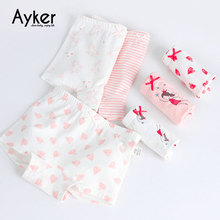 3pcs/lot Baby Briefs Soft Cotton Boxers Cute Pink Princess Girl Panties Girls Underwear Kids Underpants Clothes