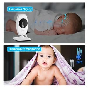 Image 5 - كاميرا FUERS 7 بوصة 720P عالية الدقة لاسلكية لمراقبة الأطفال والرؤية الليلية شاشة تهويدة لاسلكية مزدوجة شاشة LCD مراقبة مربية