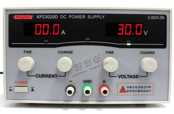 Wanptek KPS3020D high precision Adjustable Digital DC Power Supply 30V/20A for Scientific Research Laboratory Switch