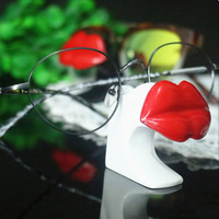 Kreative Schönheit Rot Lippen Gläser Display-ständer für Geschäfte, Märkten und Auto Boot Verkäufe zu Display Sonnenbrille, uhren oder Schmuck