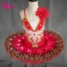 Ruoru Professional Ballet Tutus LED Swan Lake Adult Kids Dance Clothes Tutu Skirt Women Ballerina Dress for Girls Party