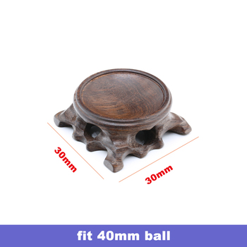 Wood Display Stand for Crystal Glass Lens Ball Large Divination Photography Lensball Base 40 60 80 100mm Big Magic Sphere Holder 11