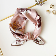 FreeShip 100% Mulberry Silk (53cmX53cm) New fashion color matching cashew silk scarf simple polka dot square