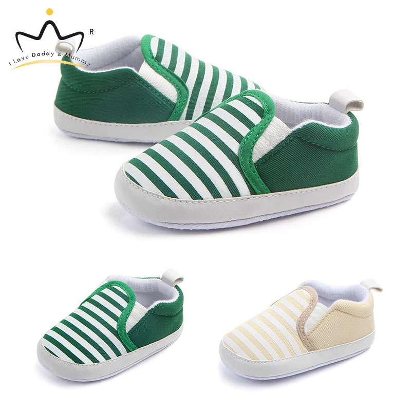 Spring Summer Baby Shoes Striped Soft Cotton Toddler Shoes First Walkers For Baby Boy Girl Non-slip Boys Girls Causal Shoes